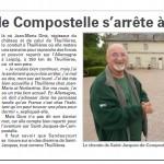 Le chemin de Compostelle s'arrête à Thullières